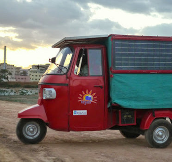 solar power tuk tuk